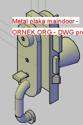 Metal plaka maindoor